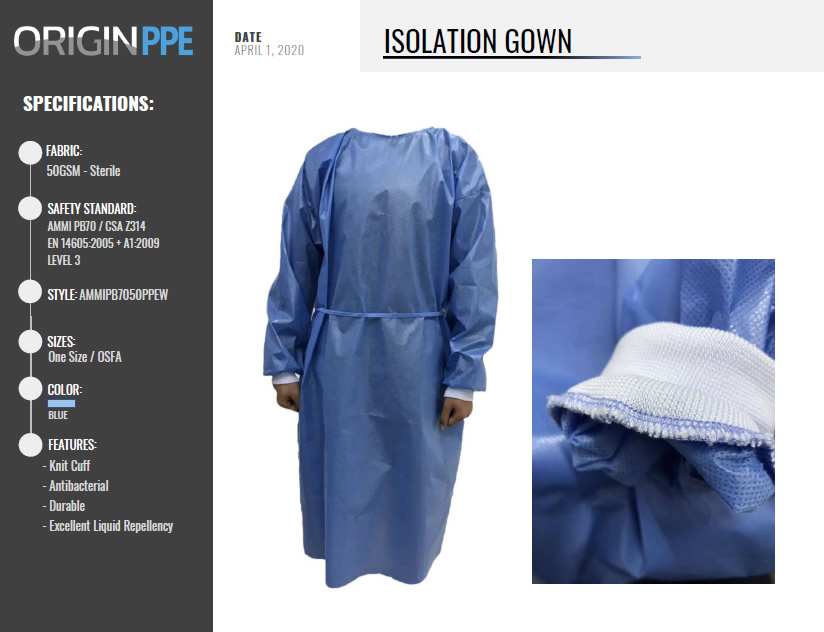 PPE Isolation Gown